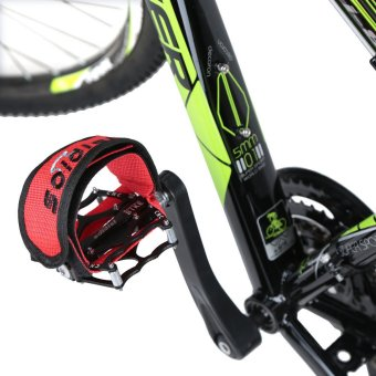 Fixed Gear Fixie BMX Bike Bicycle Anti-slip Double Adhesive Straps Pedal Toe Clip Strap Belt - Intl