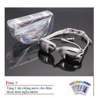 Kính bơi Shenyu tráng bạc ZOZO KB 1010 (Bạc) tặng túi chống nước cho điện thoại