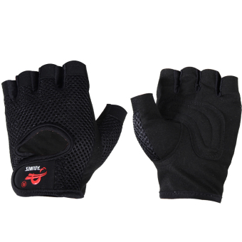 Gym Building Training Fitness Gloves Weight Workout Exercise(Black)(M) - INTL