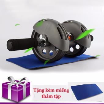 Máy tập thể dục cơ bụng bánh xe AAA trợ lực(tặng tấm lót)