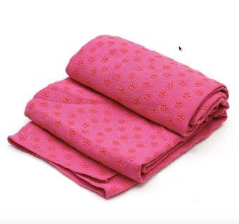 Khăn trải thảm yoga Ribobi có kèm túi đựng - Hồng