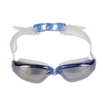AdjustableAdult Anti-fog Swimming One-Piece Earplug Goggles UV Protection