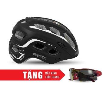 Nón bảo hộ cho người đi xe đạp FORNIX A02NM38L (Đen trắng) + Tặng Mắt kính thời trang