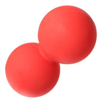 Double Lacrosse Ball Mobility Myofascial Trigger Point Release Massage Exercise Red - intl