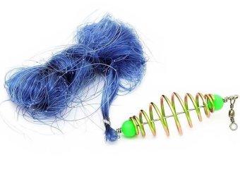 Fancyqube Copper Spring Shoal Fishing Net Netting Luminous Beads Swivel Fishing Tackle Box Fishing Lure