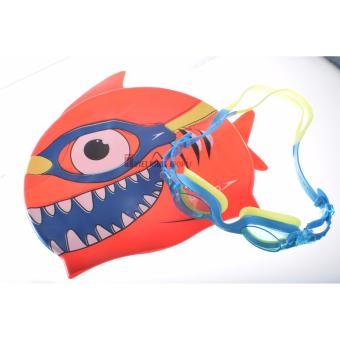Bộ kính bơi mũ bơi Speedo Sea Aquad trẻ em 2 -6 tuổi (Xanh)