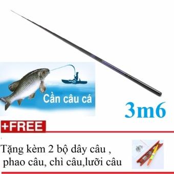 Cần Câu Tay HD-CT 3m6 + Tặng dây, phao, chì, lưỡi câu
