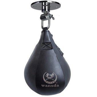 Cyber Boxing Speed Bag Boxing Fitness Speedbag Speedball (Black) - Intl