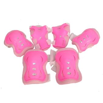 Bộ 6 miếng bảo vệ tay và chân cho bé chơi thể thao (Hồng)