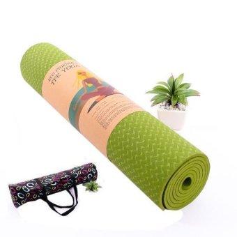 Thảm tập Yoga siêu cao cấp TPE đúc 1 lớp dày 8mm màu xanh cốm (có túi đựng đi kèm)