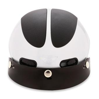 Nón bảo hiểm nửa đầu ACE - AN01 (Trắng đen)