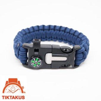 Vòng tay sinh tồn Paracord ( Xanh navy) 03 - Tiktakus