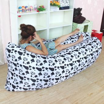 Ghế sofa giường ngủ đệm hơi thông minh đa năng 220x70 cm (Bông trắng đen)