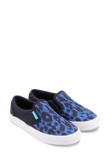 Giày lười nữ QuickFree LIGHTLY W130210-007 (Đen phối Xanh)