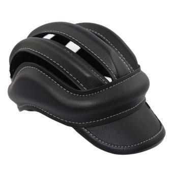 Mũ Nón Bảo Hiểm Xe Đạp 3 Sọc (Đen)