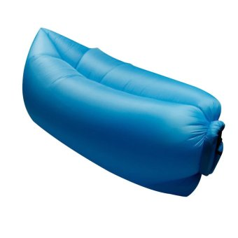 Inflatable Hangout Lounge Chair Air Sofa Bag Sleeping Bed Blue - INTL