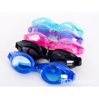 Kính bơi thể thao dưới nước chất liệu Silicon + bịt tai (Màu xanh dương nhạt) - BV