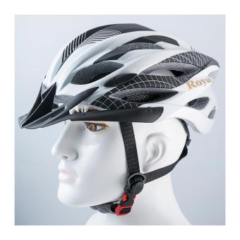 Nón bảo hiểm xe đạp M22 màu trắng đen