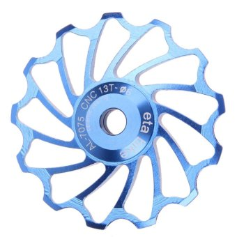 13T MTB Ceramic Bearing Jockey Wheel Pulley Road Bike Bicycle Rear Deraille (Blue) - intl