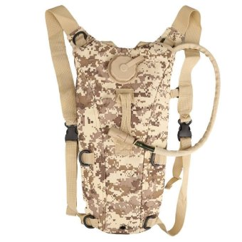 3L Tactical Water Bag Pouch Climbing Hiking Survival Backpack Woodland Camo - INTL