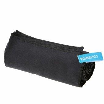 40*80cm Microfiber Quick Drying Towel Compact Travel Camping Swimming Beach Bath Body Gym Sports Towel Black - intl