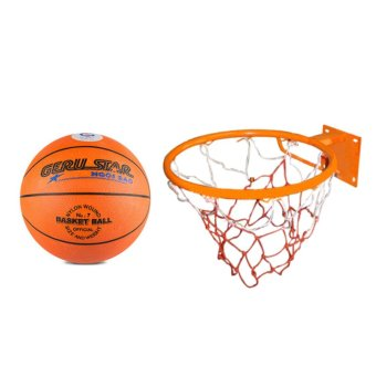bộ quả bóng rổ gerustar số 7 và vành rổ zensport 40cm