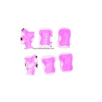 Bộ bảo vệ patin cỡ nhỏ màu hồng