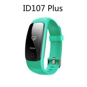 Smart Bracelet ID107 Plus Heart Rate Monitor GPS Tracker Smartband Sport Fitness Tracker For Android IOS (Green) - intl