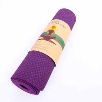 Thảm tập Gym & Yoga TPE có túi đựng (Tím)