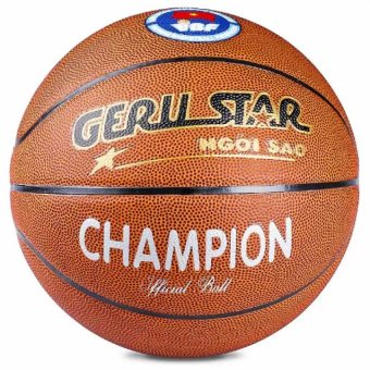 Quả bóng rổ da pvc Gerustar Champion số 7 (Nâu)