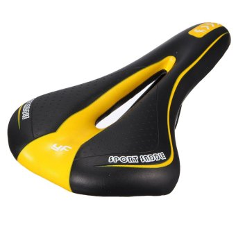 Light Weight Bicycle Saddle (Black/Yellow) - intl