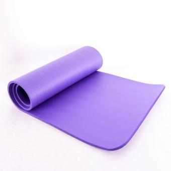 Bộ 2 Thảm Tập Yoga TPE Siêu Bền Loại Dày 10mm (Tím)