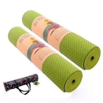 Bộ 2 Thảm tập Yoga siêu cao cấp TPE đúc 1 lớp dày 8mm (có túi đựng đi kèm)