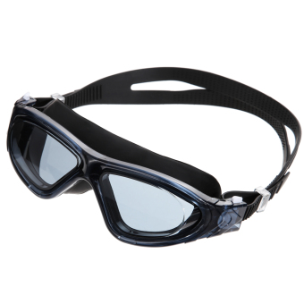 Adjustable Waterproof Professional Anti-fog Swimming Goggles Glasses(Black)