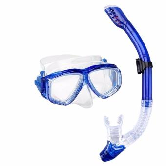 Bộ kính lặn ống thở mắt kính cường lực, ống thở ngăn nước cao cấp POPO Sports