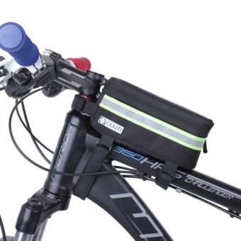 Túi treo sườn xe đạp hỗ trợ cảm ứng, chống nước, có dải phát quang DUUTI H77- Đen Xanh lá