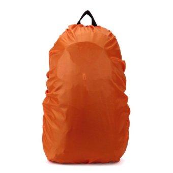 Backpack Rucksack Pack Rain Cover Bag Rainproof Waterproof Cover for Outdoor Camping Hiking Travelling (Orange)