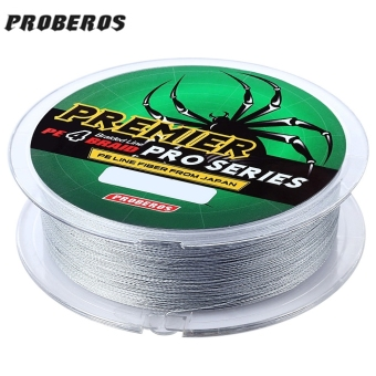 PROBEROS 100M PE 4 Strands Monofilament Braided Fishing Line Accessory 70LBS(Gray) - intl