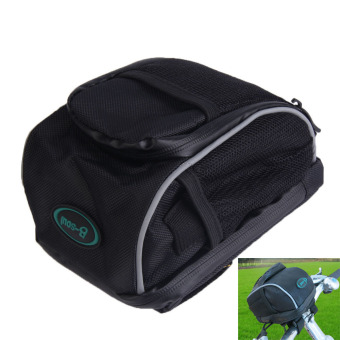 Cycling Bike Bicycle Handlebar Bar Bag Front Basket Quick Release Black (Intl)