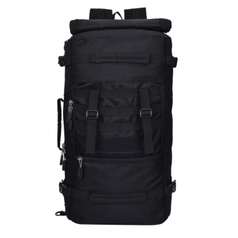Outdoor Mountaineering Tactical Backpacks Hiking Camping Travel(Black) (Intl:)