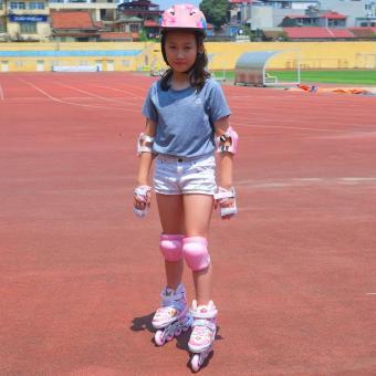 Bộ giầy Patin Aslong ASL 0611 (hồng) 32/35