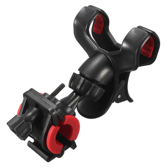 Bicycle Phone Holder Handlebar Clip Stand Mount For Smartphone Cellphone GPS Black - Intl