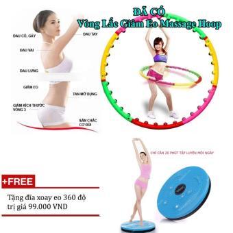 Bộ vòng lắc eo giảm cân hoạt tính massage +Tặng đĩa xoay eo