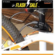 Khóa dây xe đạp chống trộm 4 số, bền đẹp, tiện lợi 100cm (Đen)(Đen)