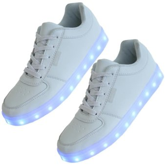 new arrival 084a0 58da5 Shopping LED Light Lace Up Unisex Sportswear Casual Sneaker ...