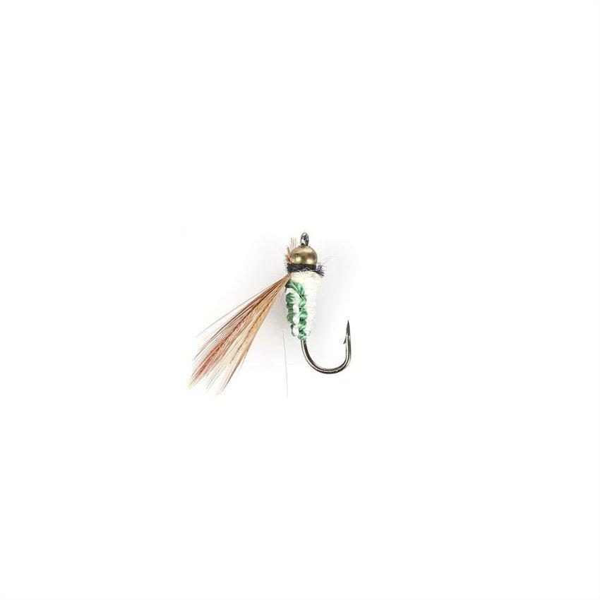 Hình ảnh LEO 40pcs/Box Bionic Fish Hook Insect Fly Shape Fish Tackle (Green) - intl