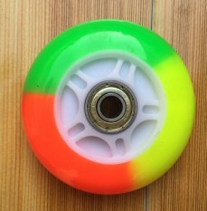 Multicolour 80/100/120mm LED Flash Light Up Wheel for Scooter Inline Skates 2 ABED-7 Bearing - intl