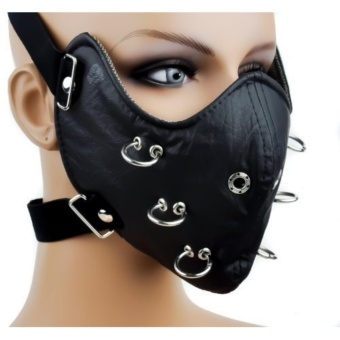 O Ring Halle Masks Rock Non-mainstream Mask Black - intl