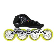 PAlight 4 Pcs Durable PU 84A Inline Roller Skates Replacement LED Wheels (Size:90mm) - intl