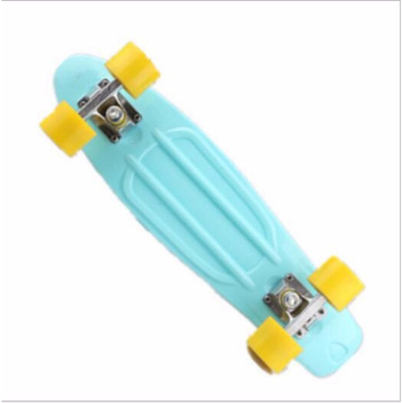 Qizhef22 inch fish plate are single - Four Wheel Scooter Skate Scooter(light blue) - intl